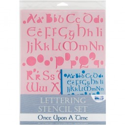 Once upon a time - pochoir lettre