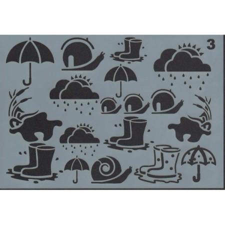 Gabarit décors sous la pluie