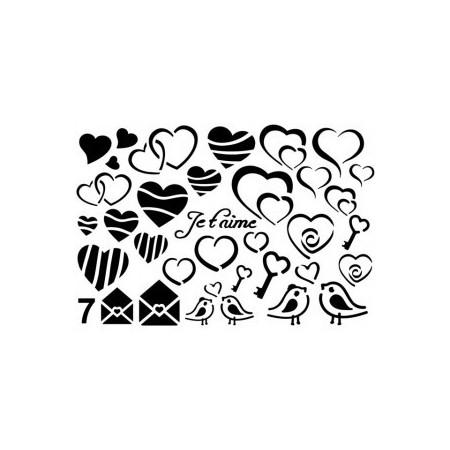 Gabarit décors coeur