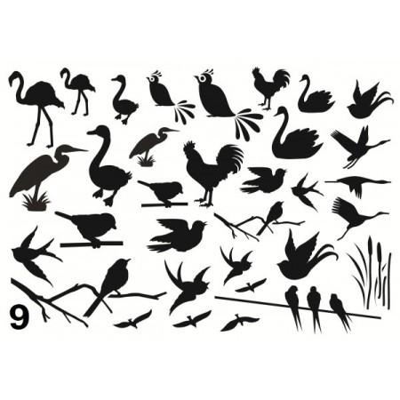 Gabarit décors oiseaux