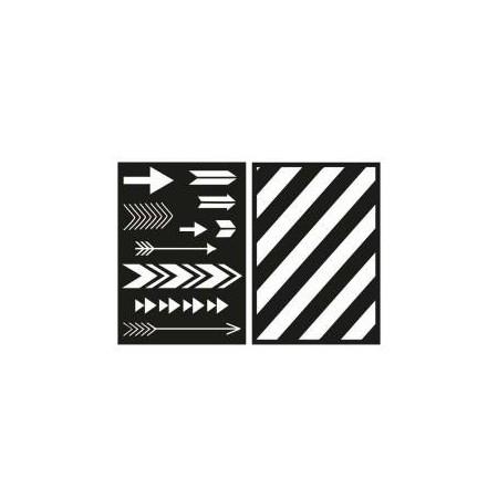 Set de 2 stencils adhésifs - Rayher
