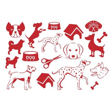 Gabarit décors chien