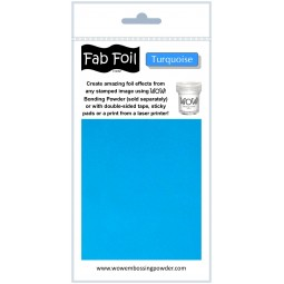 Fab foil - turquoise - Wow