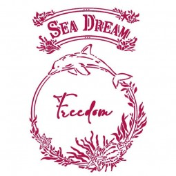 Stencil Romantic Sea Dream...
