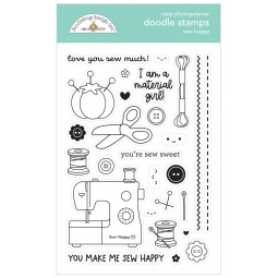 Tampon clear : Sew Happy -...