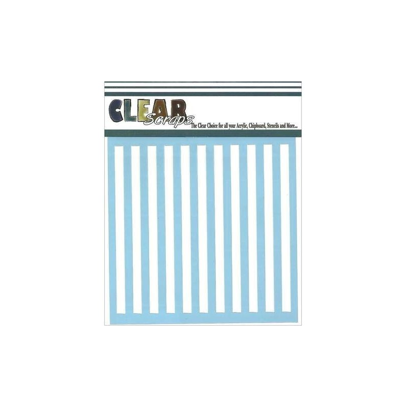 Stripes  : stencil - Clear Scrap