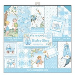 Pack papiers  - Baby boy - Stamperia