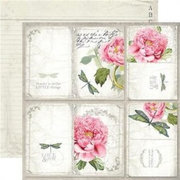 Pack papiers  - Letters & flowers - Stamperia