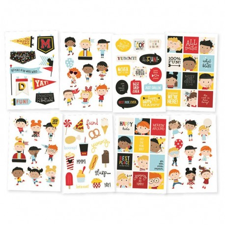 Happy Kids stickers - Collection Say Cheese 4 - Simple Stories