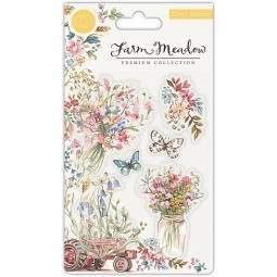 Florals -  tampon clear -...