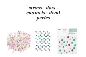 Strass, perles et cabochons